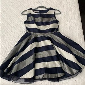 Silver&dark blue one time used girl dress Size:S